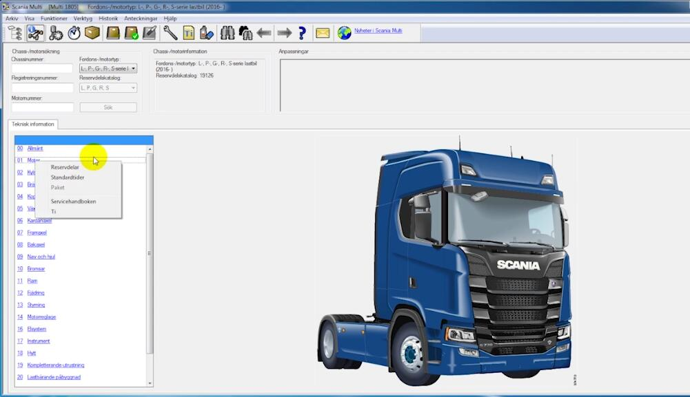 Scania Multi EPC Parts Catalogue Free Download