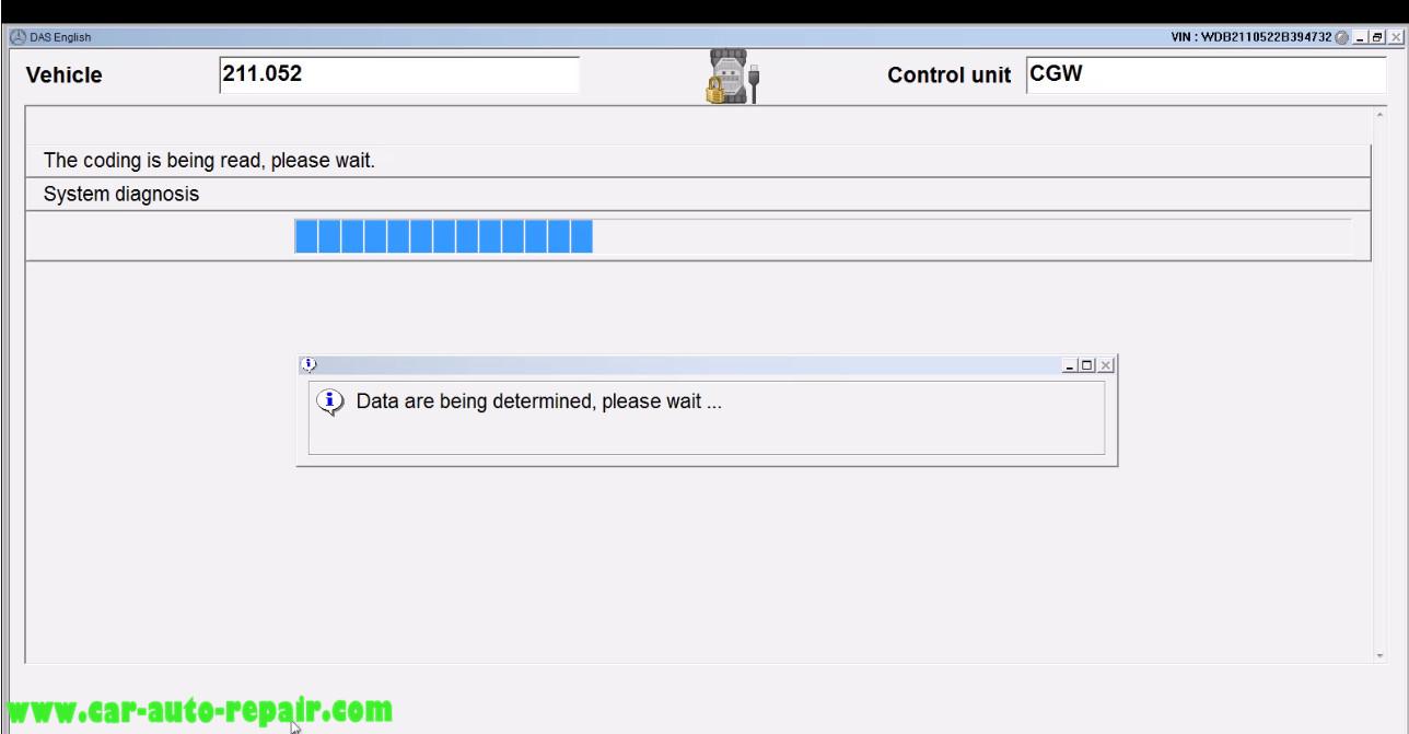 Benz E211 Central Gateway Offline Coding by DAS Xentry (13)