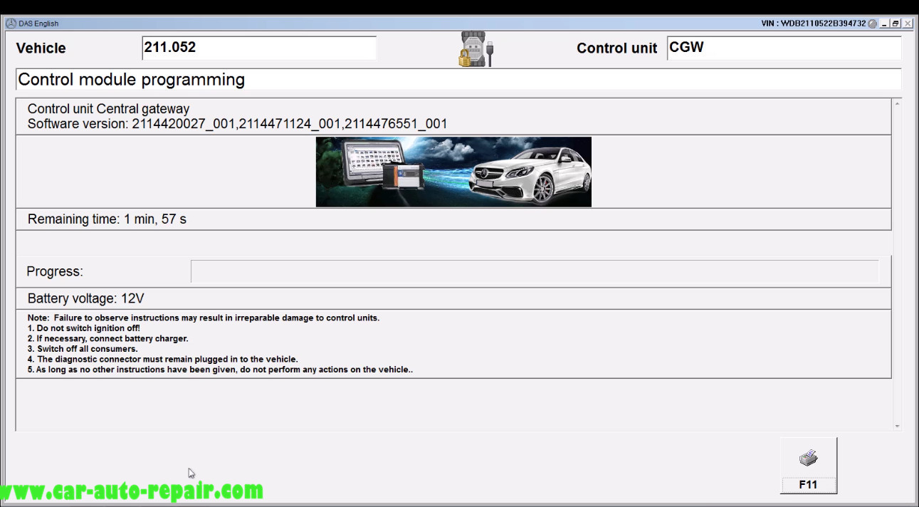 Benz E211 Central Gateway Offline Coding by DAS Xentry (16)