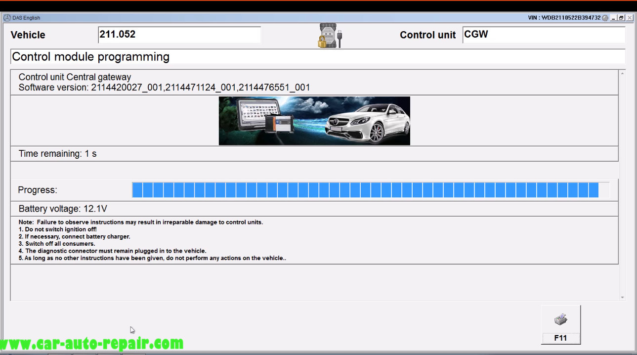 Benz E211 Central Gateway Offline Coding by DAS Xentry (17)