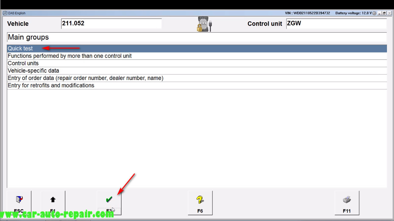 Benz E211 Central Gateway Offline Coding by DAS Xentry (2)