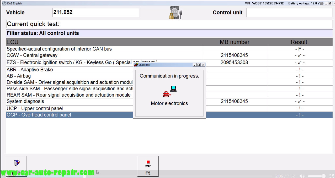 Benz E211 Central Gateway Offline Coding by DAS Xentry (3)