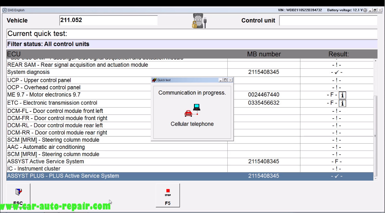 Benz E211 Central Gateway Offline Coding by DAS Xentry (4)