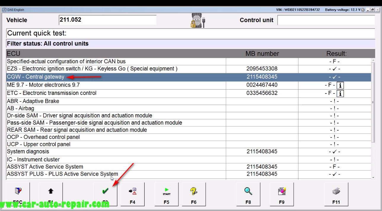 Benz E211 Central Gateway Offline Coding by DAS Xentry (5)