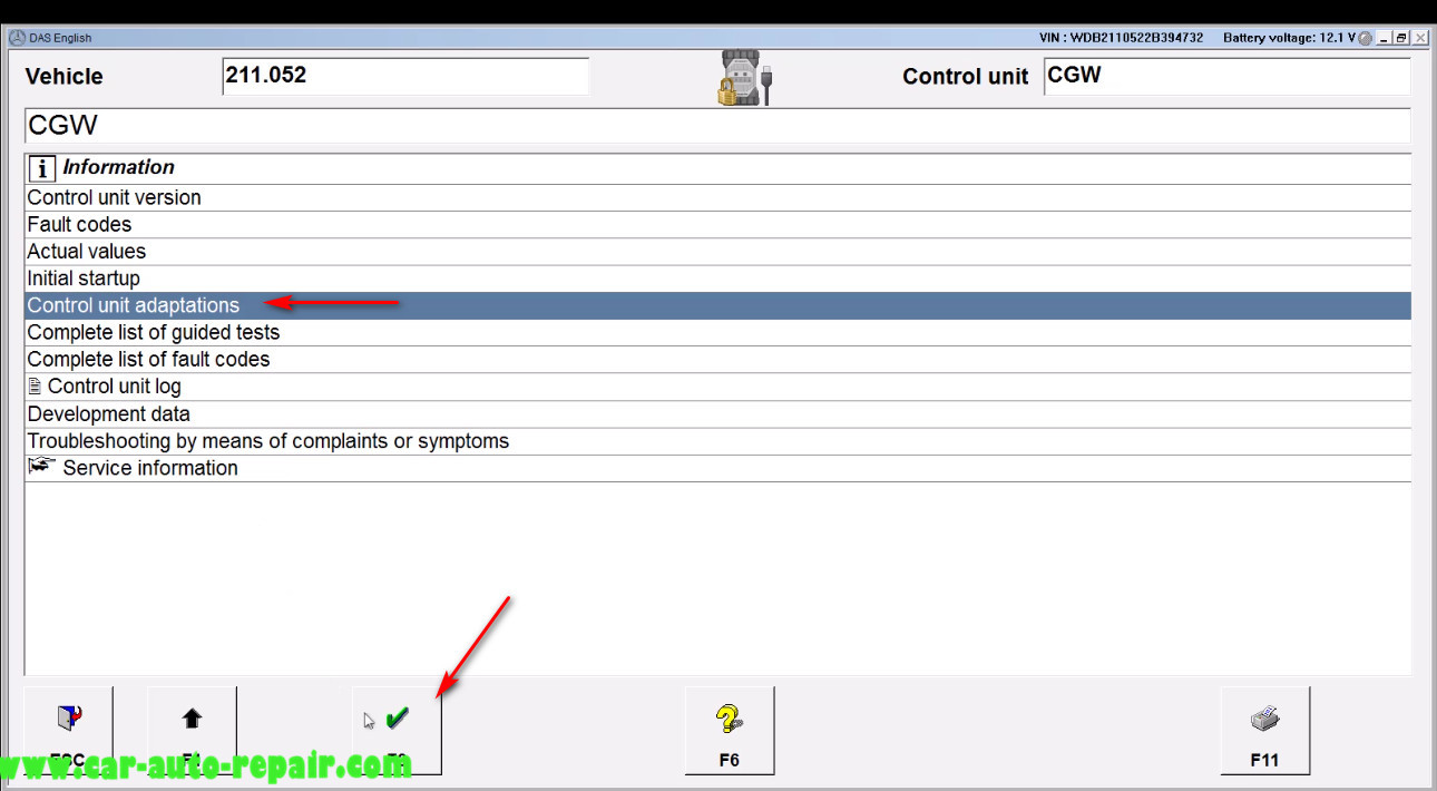 Benz E211 Central Gateway Offline Coding by DAS Xentry (6)