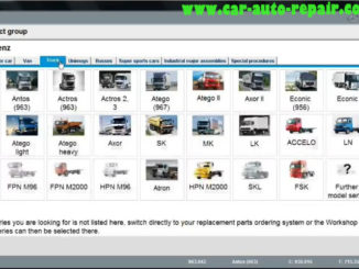 DAS Xentry Diagnose for Mercedes Benz Antos 963 Truck (1)