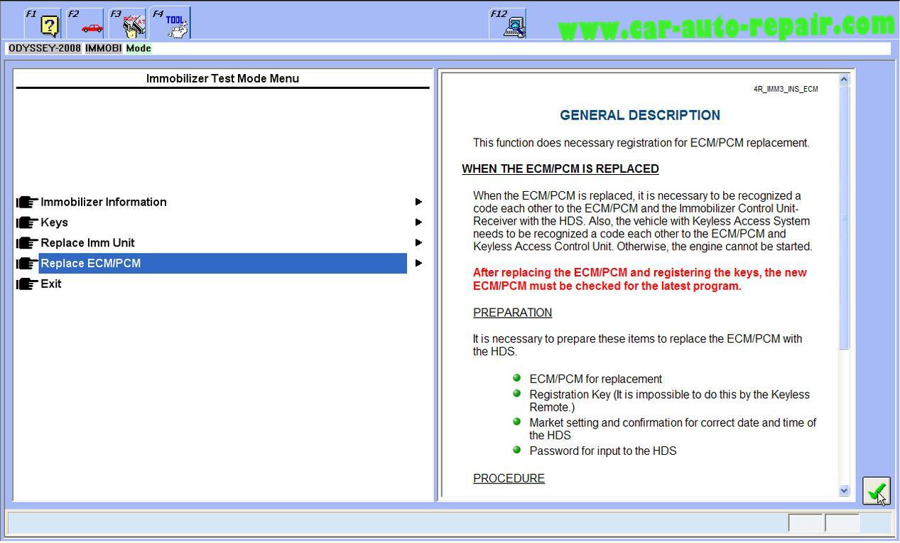 Honda Odyssey 2008 ProgramRegister New ECMPCM by Honda HDS (3)
