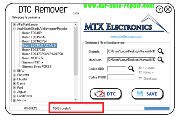 How to Use MTX DTC Remover for Bosch EDC16U31 (8)