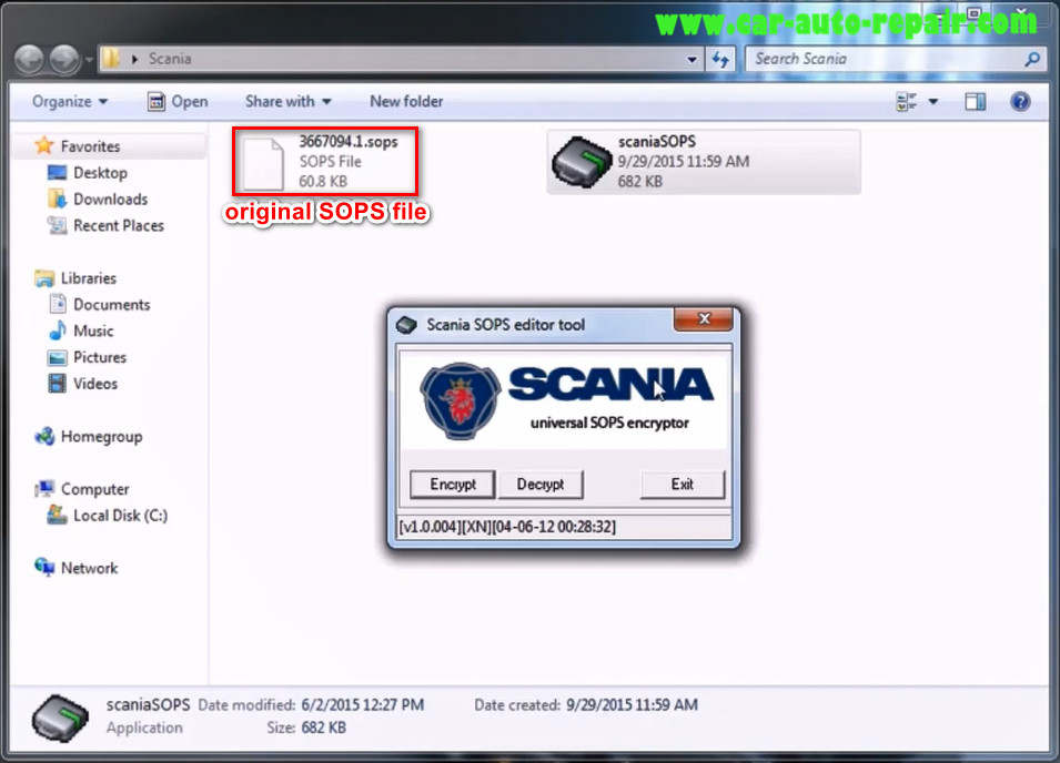 How to use Scania SOPS +XML Editor Change Speed Limit (1)