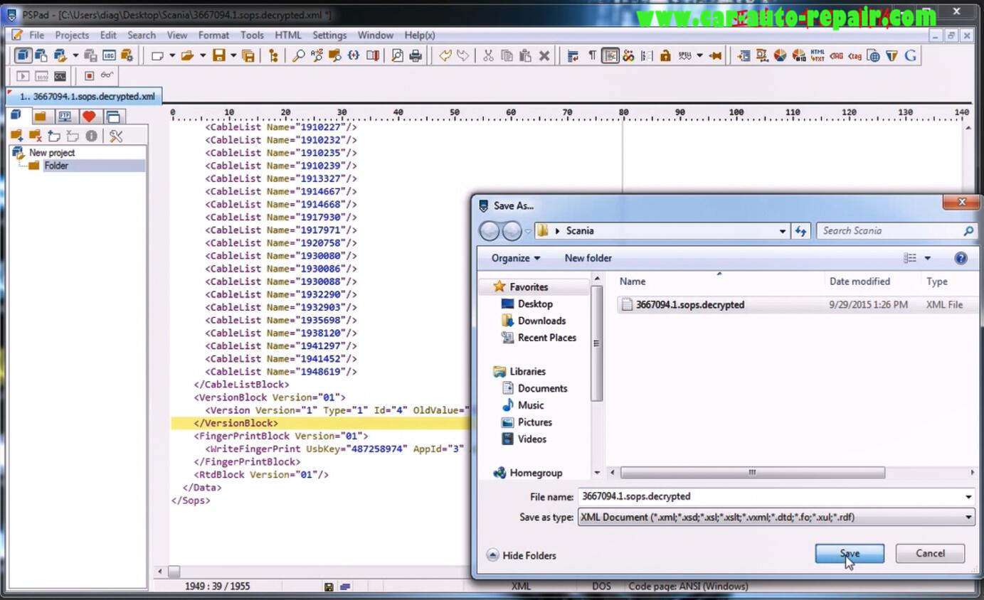 How to use Scania SOPS +XML Editor Change Speed Limit (7)