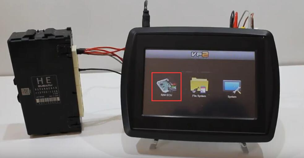 VF2 Flasher Read Subaru BRZ ECU on Bench Mode (2)