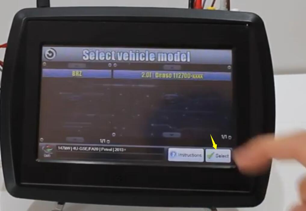 VF2 Flasher Read Subaru BRZ ECU on Bench Mode (7)