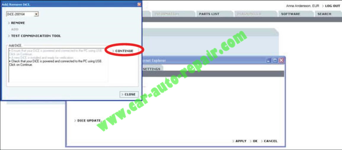 How to Adding the First DiCE Unit in Volvo VIDA 2014D (7)