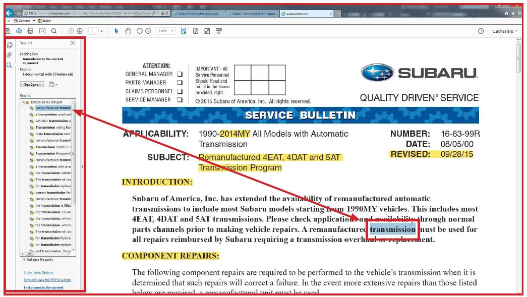 How to Use Subaru Technical Information System (STIS) (10)