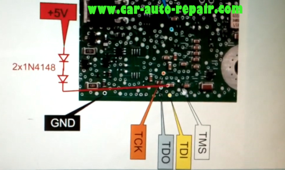 How to Use XPROG Programmer Reset VW Golf 7 MK7 SPC560 Airbag (2)
