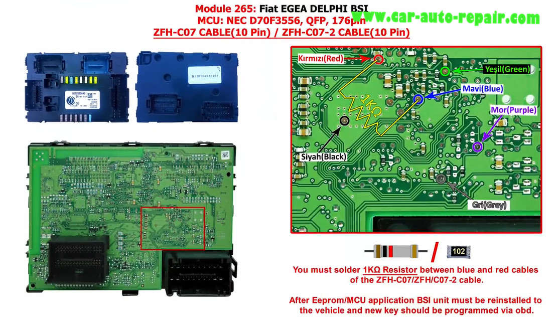 How to Use Zed-Full Program Key For Fiat Egea (OBD Can't Support) (11)