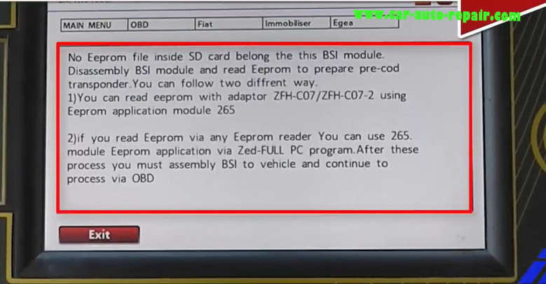 How to Use Zed-Full Program Key For Fiat Egea (OBD Can't Support) (9)