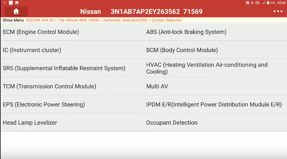 Launch X431 Torque Set IL D Unlock Intcon for Nissan Sentra 2014 (7)