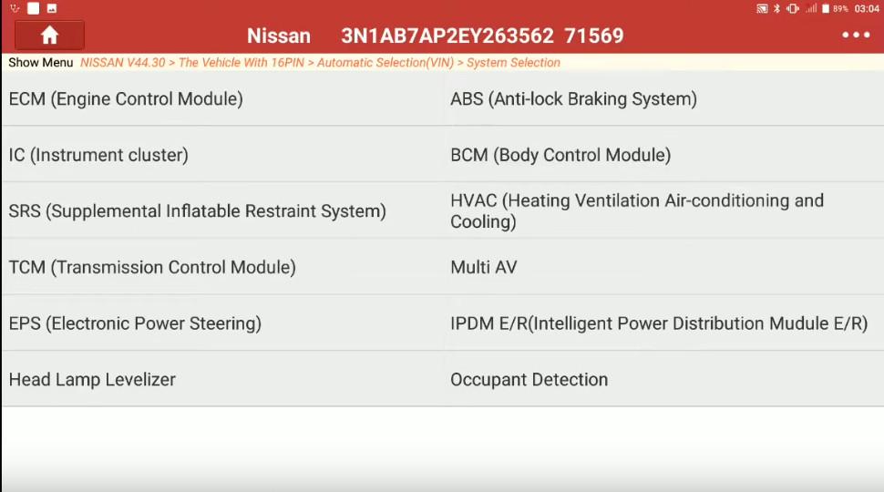 Launch X431 Torque Set IL D Unlock Intcon for Nissan Sentra 2014 (7)
