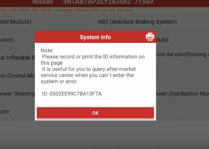 Launch X431 Torque Set IL D Unlock Intcon for Nissan Sentra 2014 (8)
