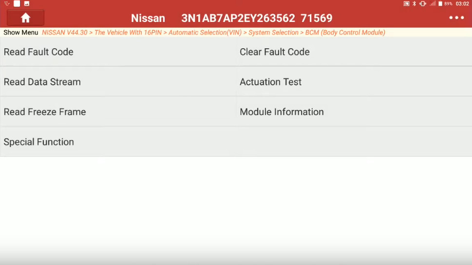 Launch X431 Torque Set IL D Unlock Intcon for Nissan Sentra 2014 (9)