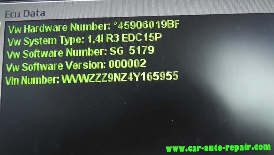 MPPS Read & Write Volkswagen Polo 1.4 TDI Bosch EDC15 (2)