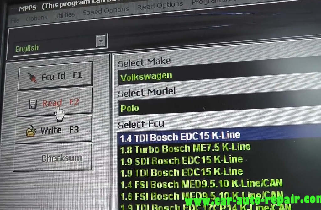 MPPS Read & Write Volkswagen Polo 1.4 TDI Bosch EDC15 (3)