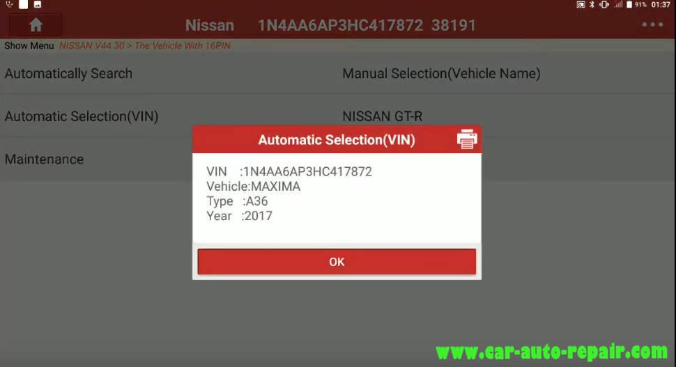 Nissan Sentra 2014 Steering Angle Sensor Adjustment (6)