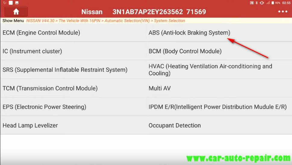 Nissan Sentra 2014 Steering Angle Sensor Adjustment (8)