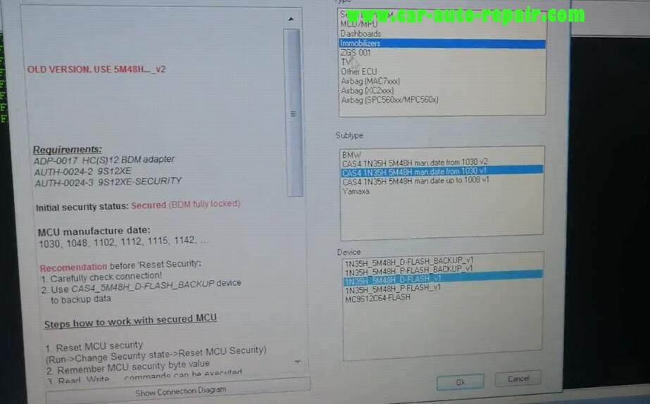 XPROG-M Programmer Read BMW CAS4 5M48H (3)