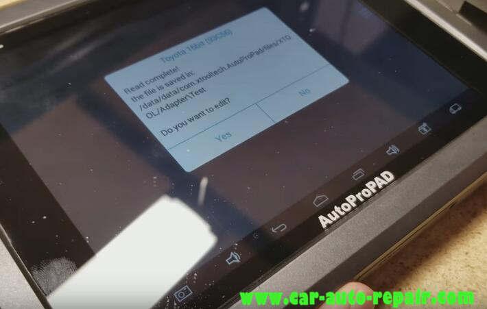 AutoProPAD ReflashInitialize Toyota Lexus Immobilizer System (16)