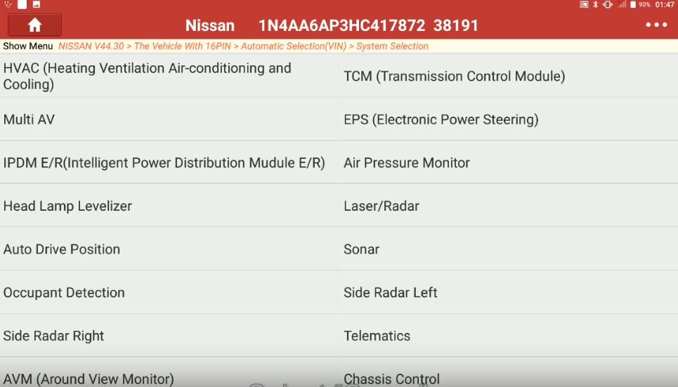 Launch X431 Torque Adjust Trailer Hitch Detection Range for Nissan Maxima (6)