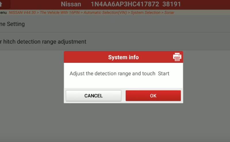 Launch X431 Torque Adjust Trailer Hitch Detection Range for Nissan Maxima (9)
