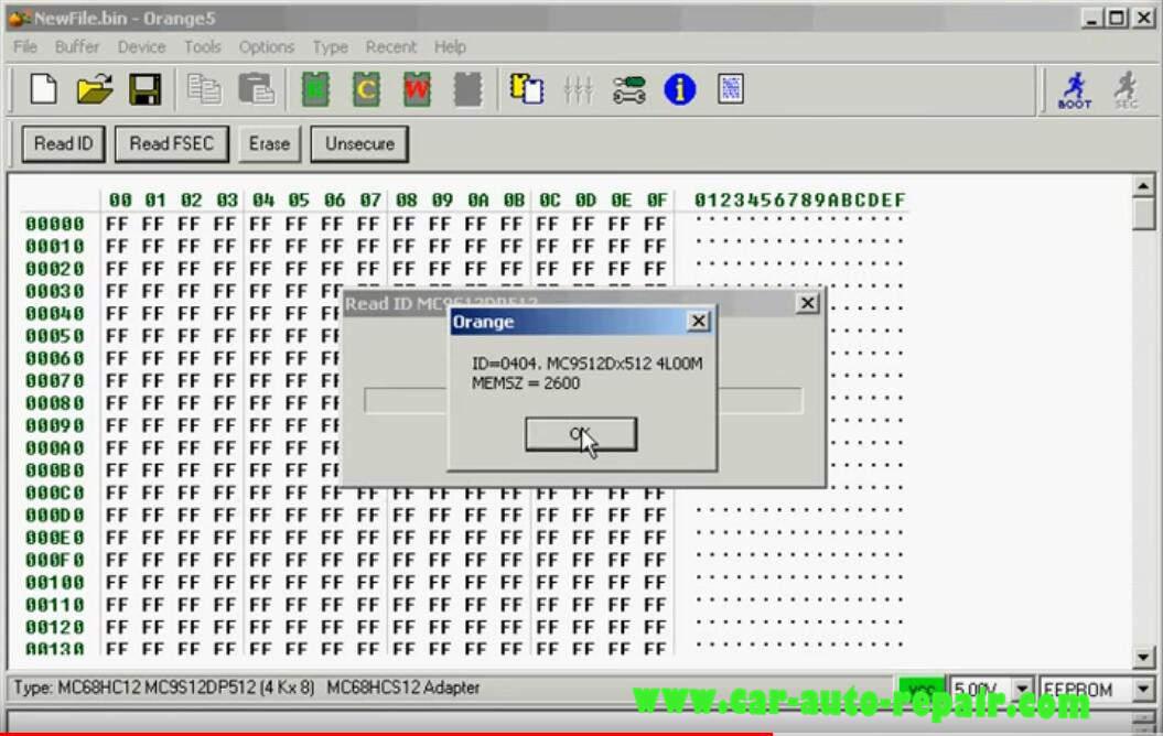 Orange 5 Programmer ReadWrite MC9S12DP512 Chip (10)