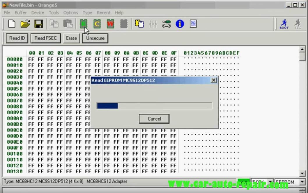 Orange 5 Programmer ReadWrite MC9S12DP512 Chip (11)