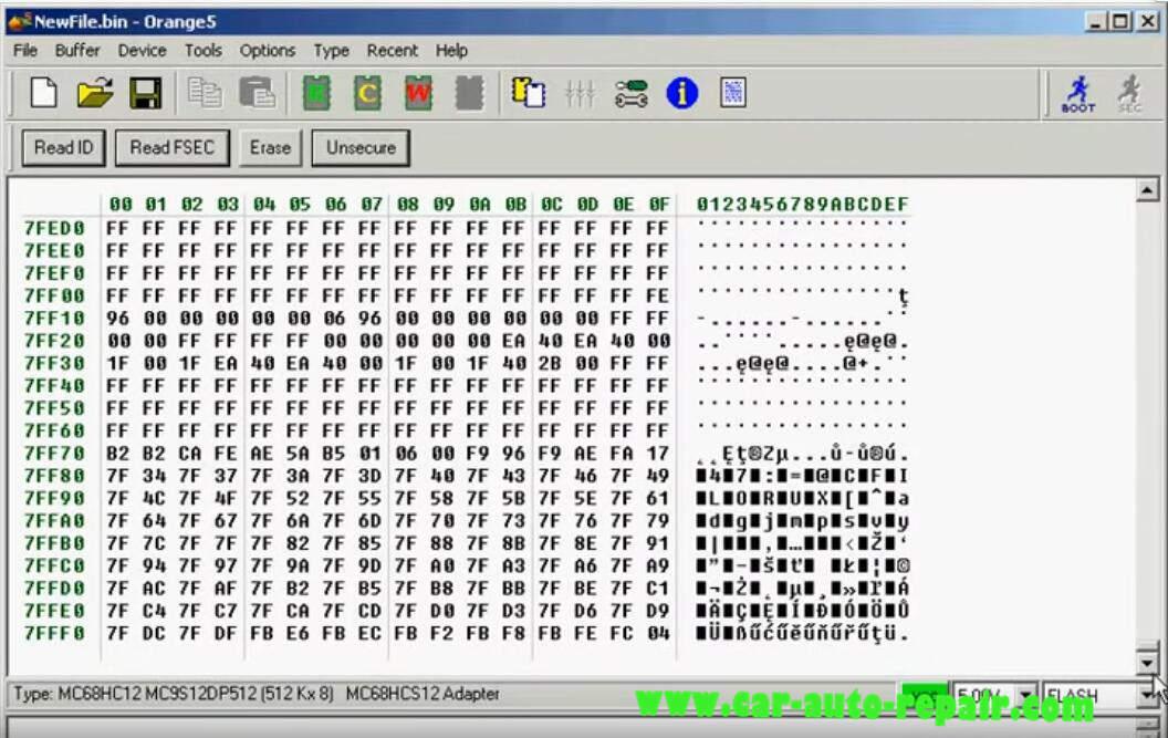 Orange 5 Programmer ReadWrite MC9S12DP512 Chip (12)