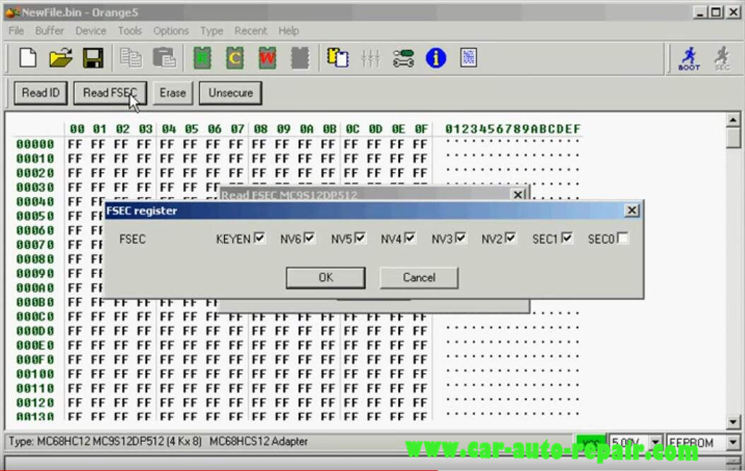 Orange 5 Programmer ReadWrite MC9S12DP512 Chip (9)