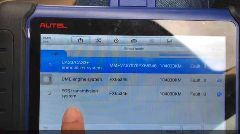 Autel IM508 Add New Smart Key for BMW E90 CAS32008 by OBD (2)