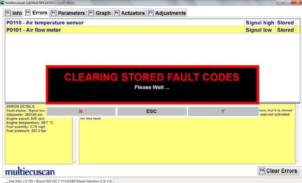 How to Use Multiecuscan to Diagnose Fiat Stilo 1.9 JTD (6)
