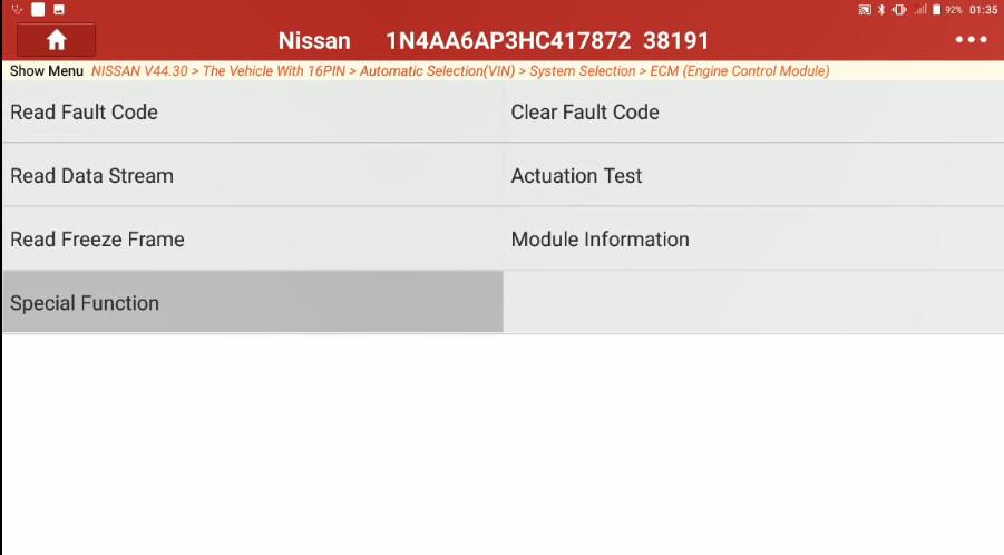 Nissan Maxima 2017 Target Ignition Timing Adjustment (5)