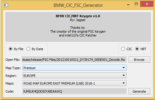 How to Easily Generate FSC Codes for BMW CIC Units by Yourself