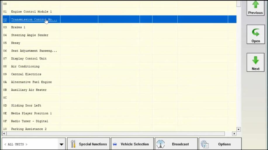 AVDI Diagnostic to AdaptProgram DSG TCU for VW Golf7 (12)