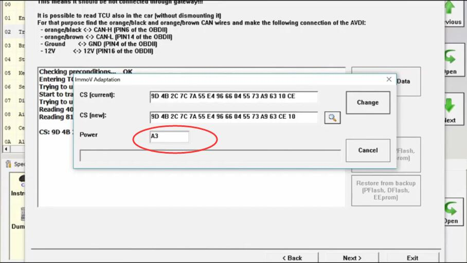 AVDI Diagnostic to AdaptProgram DSG TCU for VW Golf7 (28)