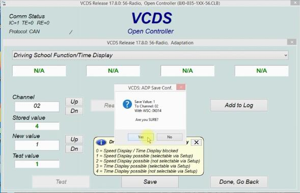 Audi A3 Drive School Mode Speed Display Coding by VCDS (5)