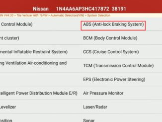 Decel G Sensor Calibration for Nissan Maxima 2017 by Launch X431 (3)