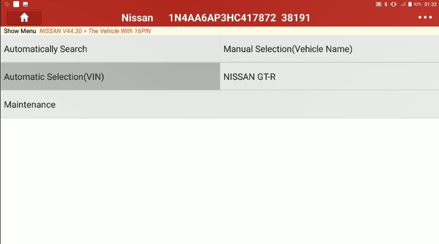 Nissan Maxima 2017 Forward Emergency Brake Default Setting (1)