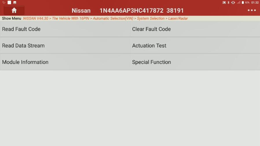Nissan Maxima 2017 Forward Emergency Brake Default Setting (2)