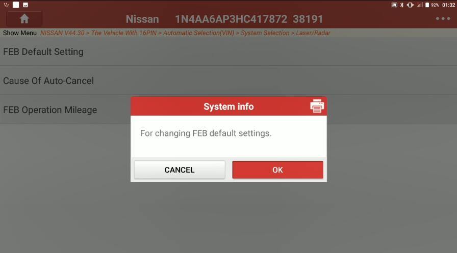 Nissan Maxima 2017 Forward Emergency Brake Default Setting (3)
