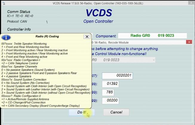 VCDS to Active AUX Function for RCD300 by Yourself (5)