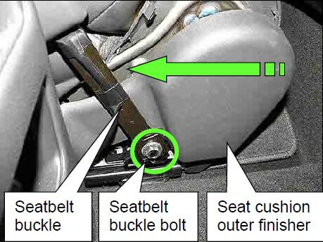 How-to-Install-Seatbelt-Buckle-Bracket-for-Nissan-Sentra-2013-10